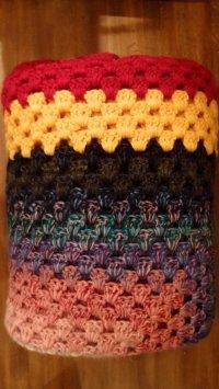 かぎ針編みモチーフ ブランケット 190×190cm [1136]