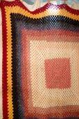 画像5: かぎ針編みモチーフ ブランケット 190×190cm [1136] (5)