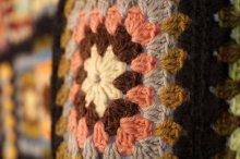 他の写真2: かぎ針編みモチーフ ベッドカバー ブランケット 180×180cm [1170]