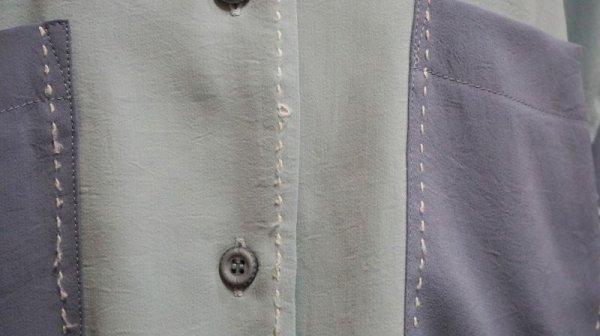 画像5: カラー スタンダードカラー ステッチ ブルーブラウス[11060]