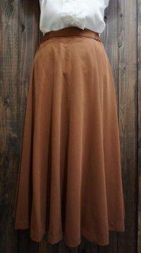 無地 ブラウン スカート/w62cm[41308]