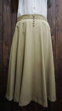 無地 グリーン スカート/w70cm[41337]