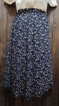 花柄 スカート プリーツ/w68cm[41420]