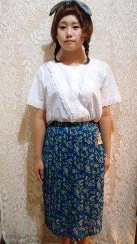 モザイク花柄スカート[1082]