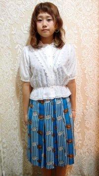 花×葉っぱ×ストライプスカート[1097]