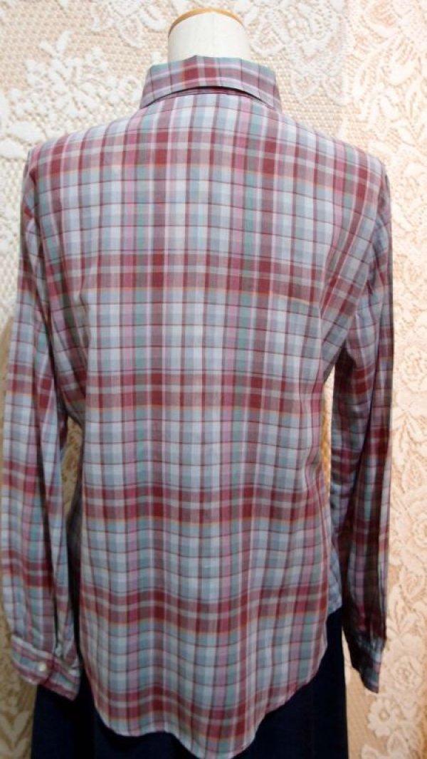 画像5: 丸襟チェックシャツ[5049]