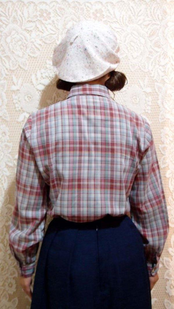 画像3: 丸襟チェックシャツ[5049]