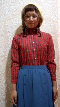 ボタンダウンチェックシャツ[5067]