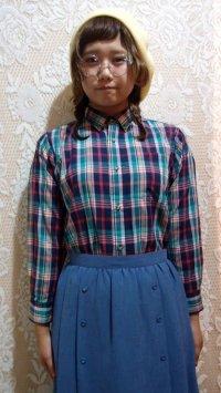 ボタンダウンチェックシャツ[5074]