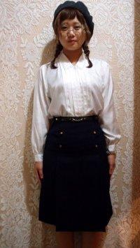 フロントボタン付きスカート  [5043]