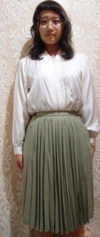 ギンガムチェックプリーツスカート  [5068]