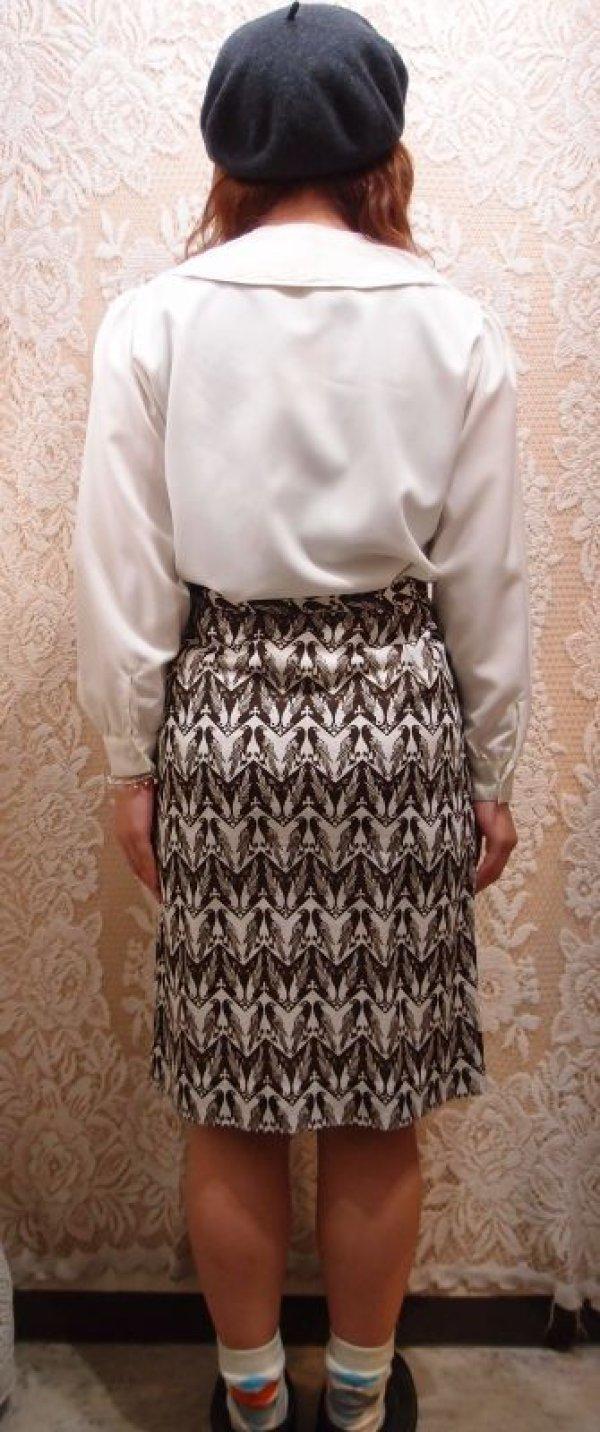 画像3: 番い雉柄スカート [1118]