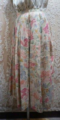 花柄 パステルスカート/w63cm [41244]