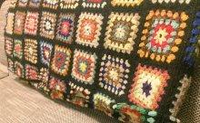 他の写真3: かぎ針編みモチーフ ベッドカバー ブランケット 180×180cm [1170]