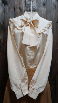 リボン襟 長袖ブラウス[15275]