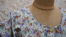 他の写真1: 花柄 半袖 コットン レトロワンピース ノーカラー[52264]