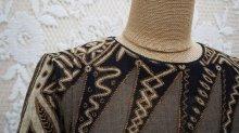 他の写真1: エスニック柄 半袖 レトロワンピース ノーカラー[52278]