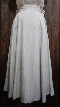 花柄 水色 スカート フレア/w62cm[41356]