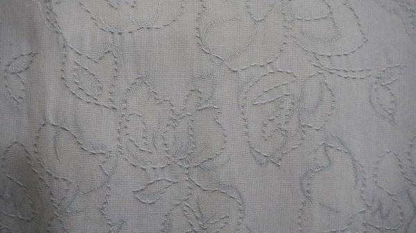 画像4: 花柄 水色 スカート フレア/w62cm[41356]