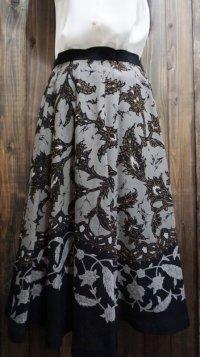 花柄 スカート フレア/w68cm[41366]
