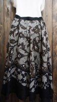 画像2: 花柄 スカート フレア/w68cm[41366] (2)
