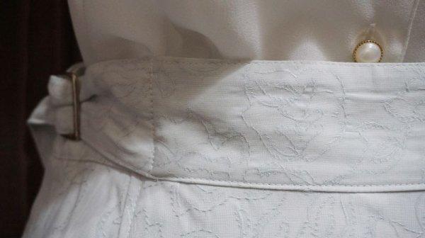 画像3: 花柄 水色 スカート フレア/w62cm[41356]