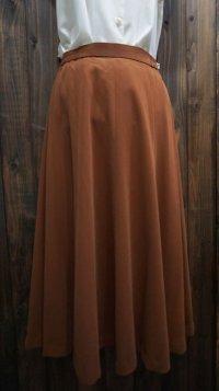 無地 ブラウン スカート フレア /w62cm [45213]