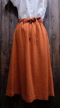 無地 オレンジ スカート /w58cm [45217]