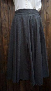 無地 グレー スカート /w64cm [45230]