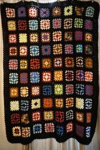 かぎ針編みモチーフ ブランケット 160×125cm [1178]