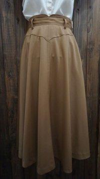無地 ブラウン スカート フレア/w63cm [41593]