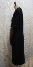 画像3: 無地 黒 半袖 レトロワンピース [52322]
