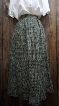 タータンチェック柄 スカート プリーツ/w60cm [41607]