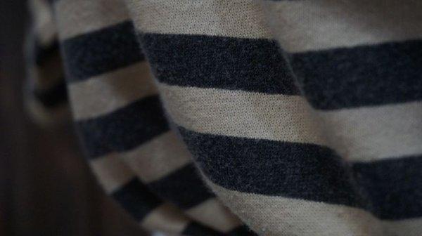画像5: ボーダー柄 半袖 プリント Tシャツ [1030]