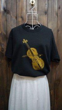 バイオリン柄 半袖 プリント Tシャツ [1029]