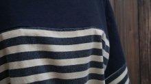 他の写真1: ボーダー柄 半袖 プリント Tシャツ [1030]