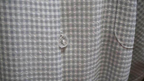 画像3: チェック柄 半袖ブラウス 丸襟[11418]