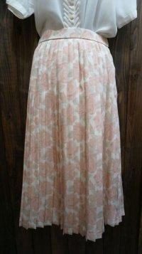 ローズ柄 ピンク スカート /w61cm [41624]
