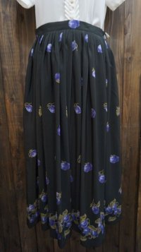 果実 黒 スカート /w67cm [41630]