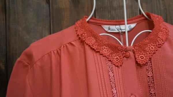 画像3: ピンク 半袖ブラウス レースカラー [11493]