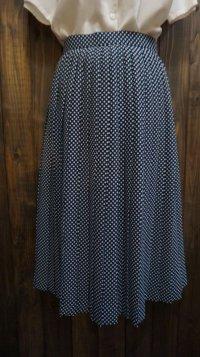 ドット柄 ネイビー スカート/ w61cm [41680]