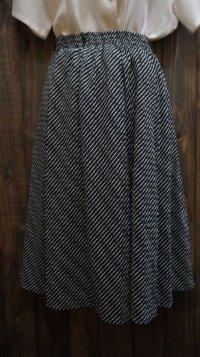 バイアス柄 ネイビー スカート/ w58〜70cm [41693]