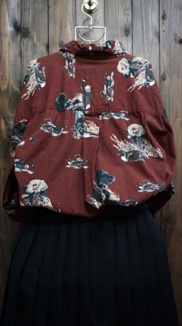 画像3: 動物柄 長袖ブラウス レギュラーカラー [15761]