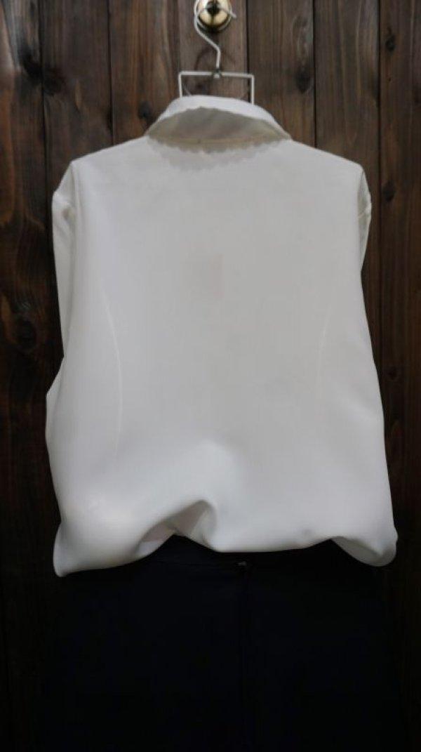 画像2: 白 長袖ブラウス スカラップカラー [15763]