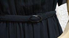 他の写真1: 無地 ブラック 半袖 レトロワンピース ノーカラー[52645]