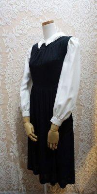 黒 ジャンパースカート[52651]