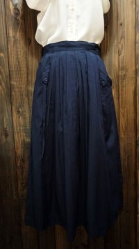 無地 ネイビー レトロスカート/w65cm [41780]