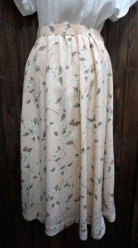ローズ 花柄 ピンク レトロスカート /w60cm [41826]