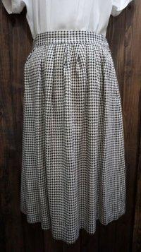 千鳥格子柄 白黒 レトロスカート /w65cm [41822]
