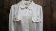 他の写真1: 白 長袖 ブラウス フラップ[15899]